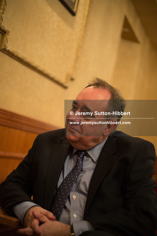 Alex Salmond at election hustings in Ellon, Scotland, on 30 March 2015.