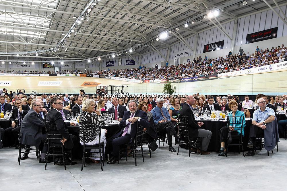 VIP tables.  Avantidrome Opening, Cambridge, New Zealand, Saturday 12 April 2014.  Photo:  Bruce Lim / www.photosport.co.nz
