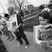 Protest in Kansas City, Missouri against atrocites in Syria by Bashar Al-Assad.