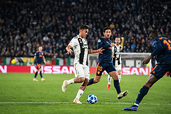 November 27, 2018 - Turin, Piedmont/Turin, Italy - Paulo Dybala of Juventus during the Champions League match Juventus vs Valencia. Juventus won 1-0 at Allianz Stadium in Turin on the 27th november 2018  (Credit Image: © Alberto Gandolfo/Pacific Press via ZUMA Wire)
