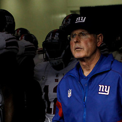 November 28, 2011; New Orleans, LA, USA; New York Giants head coach Tom Coughlin in the tunnel prior to kickoff of a game against the New Orleans Saints at the Mercedes-Benz Superdome. Mandatory Credit: Derick E. Hingle-US PRESSWIRE