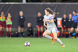 04 November 2016: Montana Portenier  during an NCAA Missouri Valley Conference (MVC) Championship series women's semi-final soccer game between the Loyola Ramblers and the Evansville Purple Aces on Adelaide Street Field in Normal IL