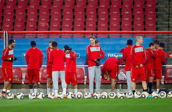 American players  during training session of USA National team before FIFA World Cup 2010 soccer match against Slovenia at  Ellis Park Stadium on June 17, 2010 in Johannesburg, South Africa.  (Photo by Vid Ponikvar / Sportida)