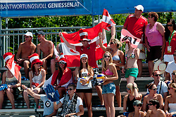 Fans at A1 Beach Volleyball Grand Slam tournament of Swatch FIVB World Tour 2011, on August 3, 2011 in Klagenfurt, Austria. (Photo by Matic Klansek Velej / Sportida)