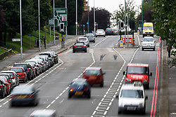 © Licensed to London News Pictures. 20/09/2013, London, UK.  General view of a section of Reigate Avenue in Sutton, south London, where a Metropolitan Police traffic officer was critically injured in a hit-and run while trying to stop a car in the early hours, Friday, Sept. 20, 2013. Photo credit : Sang Tan/LNP