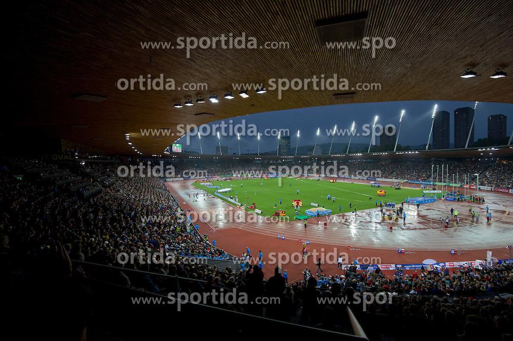 30.08.2012, Stadion Letzigrund, Zuerich, SUI, Leichtathletik, Weltklasse Zurich 2012, im Bild, Feature Uebersicht Weltklasse Zuerich Diamond League Meeting // during Athletics World Class Zurich 2012 at Letzigrund Stadium, Zurich, Switzerland on 2012/08/30. EXPA Pictures © 2012, PhotoCredit: EXPA/ Freshfocus/ Andy Mueller..***** ATTENTION - for AUT, SLO, CRO, SRB, BIH only *****