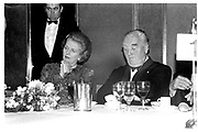 Margaret Thatcher. Lord Whitelaw, Blue Ball, Intercontinental. London. 8 July 1987.