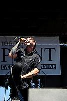 Hail The Villain perform at Pointfest 26 at Verizon Wireless Amphitheater in St. Louis on June 6, 2010