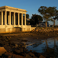 Historic Plymouth landmark photography featuring the Plymouth Rock Monument, south of Boston.   <br />