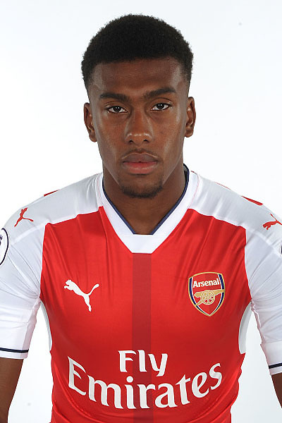 ST ALBANS, ENGLAND - AUGUST 03: (EXCLUSIVE COVERAGE)  Alex Iwobi of Arsenal at the 1st team photocall at London Colney on August 3, 2016 in St Albans, England.  (Photo by Stuart MacFarlane/Arsenal FC via Getty Images)