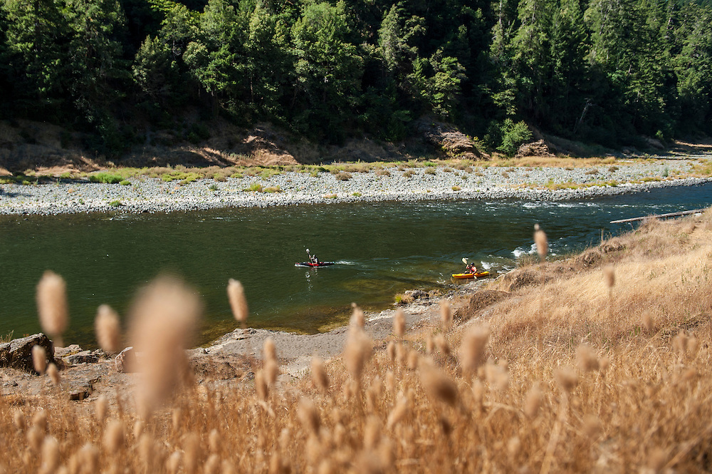 Paddling the Rogue River, Oregon.