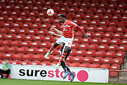 Walsall Striker (on loan from Huddersfield Town) Jordy Hiwula during the Sky Bet League 1 play-off second leg match between Walsall and Barnsley at the Banks's Stadium, Walsall, England on 19 May 2016. Photo by Dennis Goodwin.