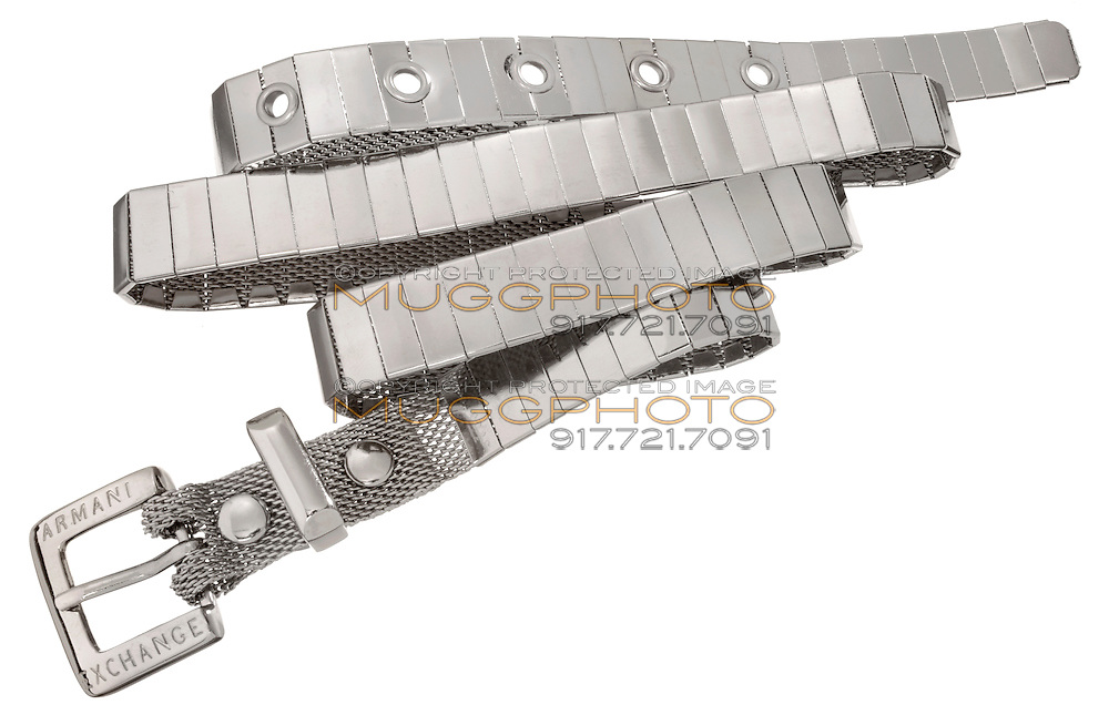 an armani exchange belt on white