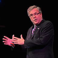"Sept. 19, 2012 - Hempstead, New York, U.S. - Former Florida Governor JEB BUSH speaks at Hofstra University about ?America's Promise in Uncertain Times.? This lecture is part of 'Debate 2012 Pride Politics and Policy"" a series of events leading up to when Hofstra hosts the 2nd Presidential Debate between Pres. Barack Obama and Mitt Romney, on October 16, 2012, in a Town Meeting format."