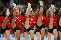 CARDIFF, WALES - Wednesday, September 8, 2004: Wales cheerleaders before the Group Six World Cup Qualifier against Northern Ireland at the Millennium Stadium. (Pic by David Rawcliffe/Propaganda)
