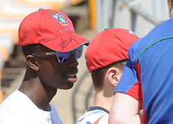 Johannesburg 19-12-18. South Africa Invitation XI vs Pakistan. Pakistan open their tour of South Africa with a three-day match at Sahara Willowmoore Park, Benoni. Day 1, afternoon session.  Keron Thomas with friends from England. Picture: Karen Sandison/African News Agency(ANA)