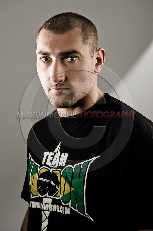 """NOTTINGHAM, ENGLAND, SEPTEMBER 27, 2012: A portrait of Paul Sass as taken at the pre-fight press conference ahead of """"UFC on Fuel TV: Struve vs. Miocic"""" inside the Hilton Hotel in Nottingham , United Kingdom on Thursday, Septermber 27, 2012 © Martin McNeil"""