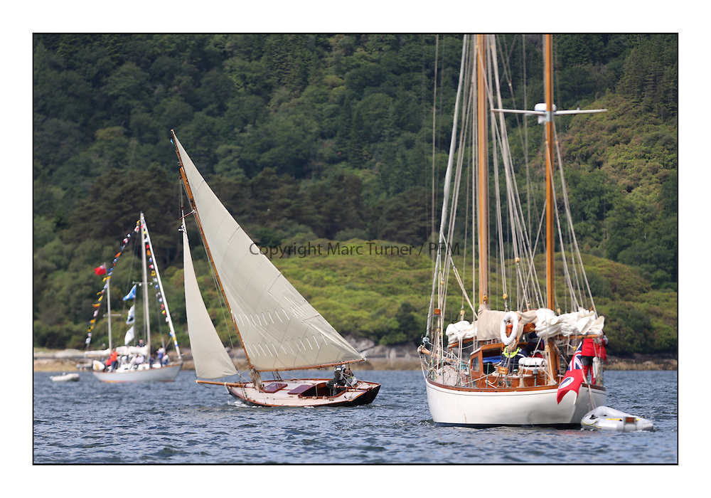 Day three of the Fife Regatta, Cruise up the Kyles of Bute to Tighnabruaich<br /> Tringa, G&amp;H Scharbaum, GER, Gaff Sloop, Wm Fife 3rd, 2010<br /> <br /> * The William Fife designed Yachts return to the birthplace of these historic yachts, the Scotland&rsquo;s pre-eminent yacht designer and builder for the 4th Fife Regatta on the Clyde 28th June&ndash;5th July 2013<br /> <br /> More information is available on the website: www.fiferegatta.com