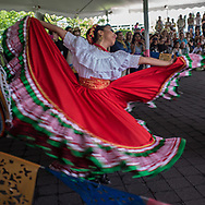 The Calpulli Danza Mexicana during the Frida Kahlo exhibit at the New York Botanical Garden in Bronx, New York.