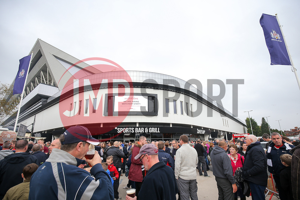 Pre match atmosphere - Rogan Thomson/JMP - 30/10/2016 - RUGBY UNION - Ashton Gate Stadium - Bristol, England - Bristol Rugby v Sale Sharks - Aviva Premiership.