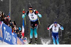 Quentin Fillon Maille (FRA) in action during the Pursuit Men 12,5 km at day 8 of IBU Biathlon World Cup 2018/19 Pokljuka, on December 9, 2018 in Rudno polje, Pokljuka, Pokljuka, Slovenia. Photo by Urban Urbanc / Sportida