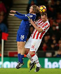 Tom Davies of Everton and Charlie Adam of Stoke City - Mandatory by-line: Matt McNulty/JMP - 01/02/2017 - FOOTBALL - Bet365 Stadium - Stoke-on-Trent, England - Stoke City v Everton - Premier League