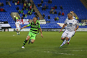 Forest Green Rovers Marcus Kelly(10) and Tranmere Rovers Steve McNulty(5) during the Vanarama National League match between Tranmere Rovers and Forest Green Rovers at Prenton Park, Birkenhead, England on 11 April 2017. Photo by Shane Healey.