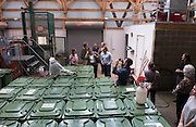 The Sustainability Summit takes a gander at the inside of the compost facility on September 17, 2014. Photo by Olivia Wallace