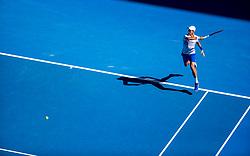 January 19, 2019 - Melbourne, VIC, U.S. - MELBOURNE, AUSTRALIA - JANUARY 19 : Novak Djokovic of ÊSerbia returns the ball during day 6 of the Australian Open on January 19 2019, at Melbourne Park in Melbourne, Australia.(Photo by Jason Heidrich/Icon Sportswire) (Credit Image: © Jason Heidrich/Icon SMI via ZUMA Press)