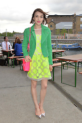 ELLA CATLIFF at a supper and screening of 'No More Tiaras' a film by Mary Nighy held at Shrimpy's, King's Cross Filling Station, Goods Way, London on 7th May 2014.