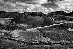 Tourists near Frostastadarvatn, Iceland - Ferðamenn við Frostastaðarvatn