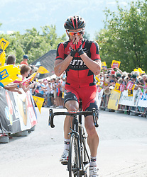 04.07.2013, Niederösterreich, AUT, 65. Oesterreich Rundfahrt, 5. Etappe, St.Johann/Alpendorf - Sonntagberg im Bild Etappensieger #44 Mathias Frank, SUI, BMC Racing Team // during the 65th Tour of Austria, Stage 5, from St. Johann / Alpendorf to Sonntagberg, Lower Austria, Austria on 2013/07/04. EXPA Pictures © 2013, PhotoCredit: EXPA/ R. Eisenbauer