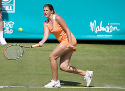 LIVERPOOL, ENGLAND - Tuesday, June 10, 2008: Olga Savchuk (UKR) in action during the opening day of the Tradition-ICAP Liverpool International Tennis Tournament at Calderstones Park. (Photo by David Rawcliffe/Propaganda)