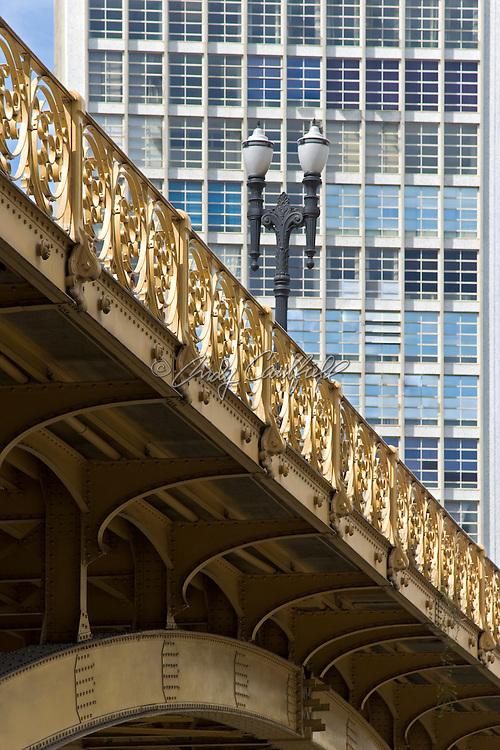 Architectural detail of Viaduto Santa Ifigenia a pedestrian bridge in central Sao Paulo, Brazil