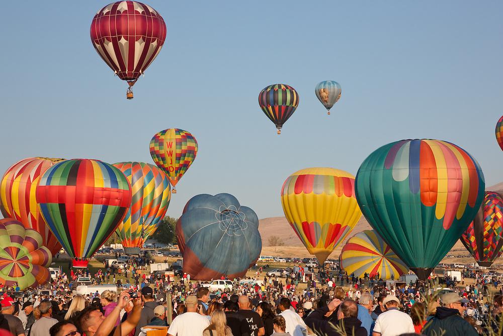 """Great Reno Balloon Race 6"" - The 2011 Great Reno Balloon Race balloons photographed from a hot air balloon."