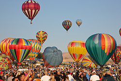 """Great Reno Balloon Race 6"" - The 2011 Great Reno Balloon Race balloons photographed from a hot air balloon."