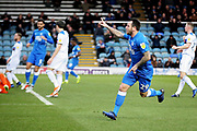 Peterborough Utd's Lee Tomlin (29) celebrates his goal during the EFL Sky Bet League 1 match between Peterborough United and Rochdale at London Road, Peterborough, England on 12 January 2019.