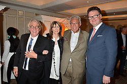 Left to right, FRANK COHEN, CHERYL COHEN, SIR DAVID TANG and EWAN VENTERS at a the Fortnum's X Frank private view - an instore exhibition of over 60 works from Frank Cohen's collection at Fortnum & Mason, 181 Piccadilly, London on 12th September 2016.