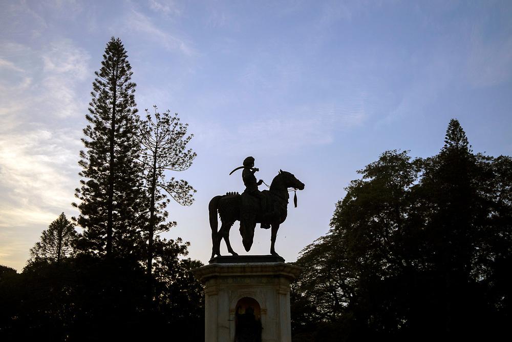 KADIRI, INDIA - 04th November 2019 - Statue of Chamaraja Wodeyar, Lalbagh Botanical Garden, Bangalore Bengaluru, Karnataka, India, South India