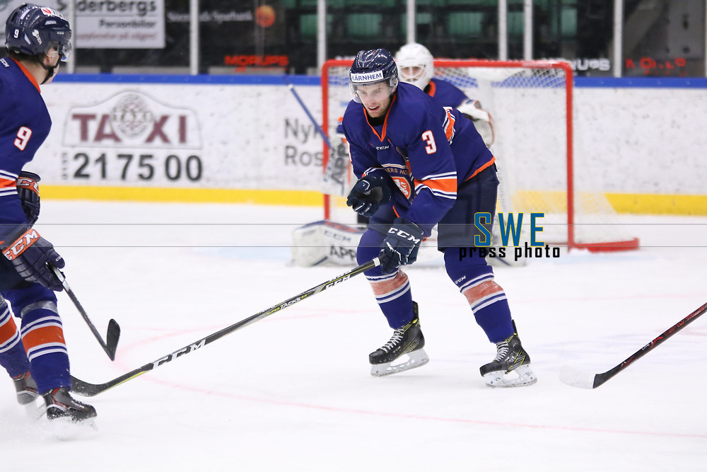 2018-04-02 | Nyk&ouml;ping, Sweden: V&auml;xj&ouml; Jonathan Augustin (3) during the game between V&auml;xj&ouml; and HV71 at Nyk&ouml;pings Arenor ( Photo by: Fredrik Sten | Swe Press Photo )<br /> <br /> Keywords: Icehockey, Nyk&ouml;pings Arenor, Nyk&ouml;ping, J20, V&auml;xj&ouml;, HV71, playoffs, playoff, gold, gold-game, Junior, SM, JSM, Junior-SM, goldmedal, medal