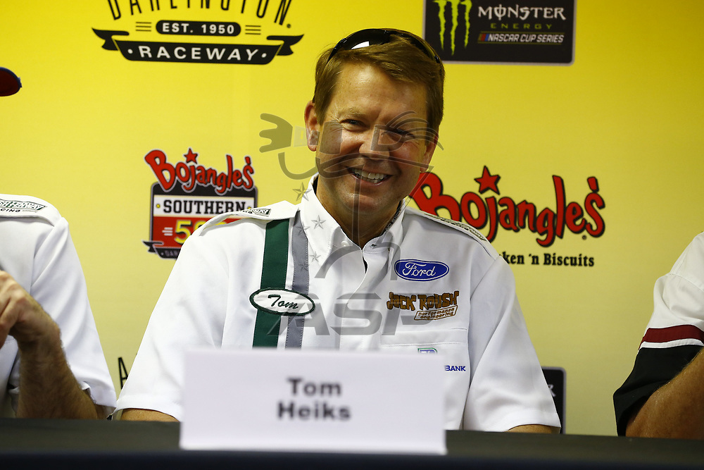 September 03, 2017 - Darlington, South Carolina, USA: Roush Fenway Racing tolds a press conference before the Bojangles' Southern 500 at Darlington Raceway in Darlington, South Carolina.