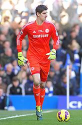 Chelsea's Thibaut Courtois in action - Photo mandatory by-line: Mitchell Gunn/JMP - Mobile: 07966 386802 - 21/02/2015 - SPORT - Football - London - Stamford Bridge - Chelsea v Burnley - Barclays Premier League