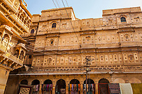 A Haveli in Jaisalmer Fort, Rajasthan, India.