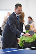 King Felipe VI of Spain attended the Event commemorating the 40th anniversary of the National Hospital for Paraplegics on February 10, 2015 in Toledo, Spain