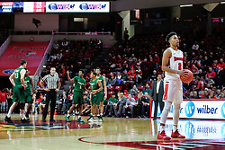 NORMAL, IL - December 16: Zach Copeland shoots a pair of shots from the line following a technical foul called on Tyree Appleby during a college basketball game between the ISU Redbirds and the Cleveland State Vikings on December 16 2018 at Redbird Arena in Normal, IL. (Photo by Alan Look)