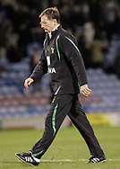 Burnley - Saturday November 1st, 2008: Glenn Roader, manager of Norwich City leaves Burnley dejected after the Coca Cola Championship match against Burnley at Turf Moor, Burnley. (Pic by Michael Sedgwick/Focus Images)