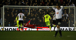 Chris Martin of Derby County scores his sides second goal from the penalty spot - Mandatory byline: Jack Phillips / JMP - 07966386802 - 12/12/2015 - FOOTBALL - The iPro Stadium - Derby, Derbyshire - Derby County v Brighton & Hove Albion - Sky Bet Championship