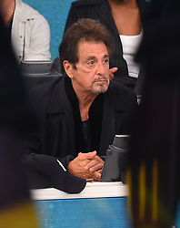 """Celebrities at the """"Hand to hand"""" telethon in Times square, New York City. 12 Sep 2017 Pictured: Al Pacino. Photo credit: MEGA TheMegaAgency.com +1 888 505 6342"""
