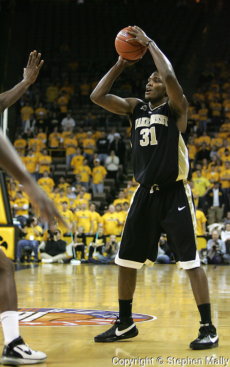 26 NOVEMBER 2007: Wake Forest forward Jamie Skeen (31) in Wake Forest's 56-47 win over Iowa at Carver-Hawkeye Arena in Iowa City, Iowa on November 26, 2007.