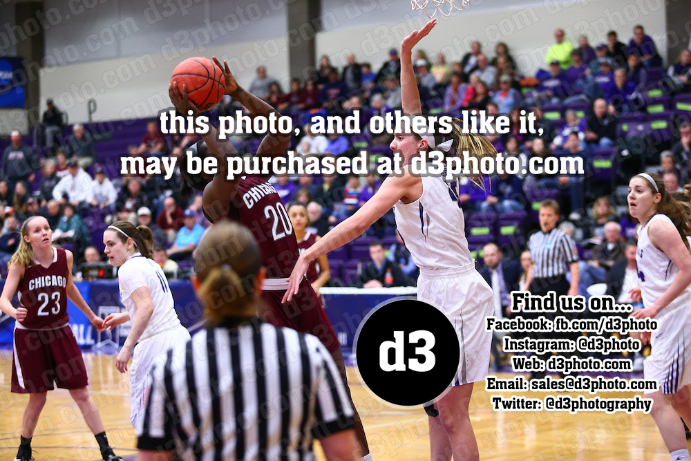 University of St. Thomas defeated University of Chicago 73-69 in NCAA Women's Basketball Second Round action in Saint Paul, Minnesota, on March 4, 2017.
